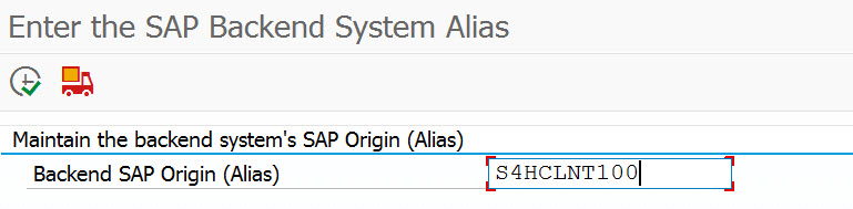Backend System Alias entry example