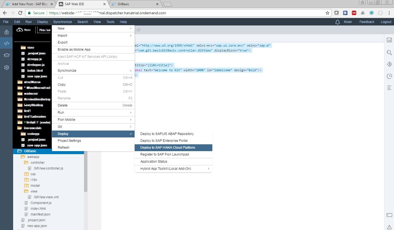 GIT Basics in SAP WEB IDE — Understanding GIT   SAP Blogs