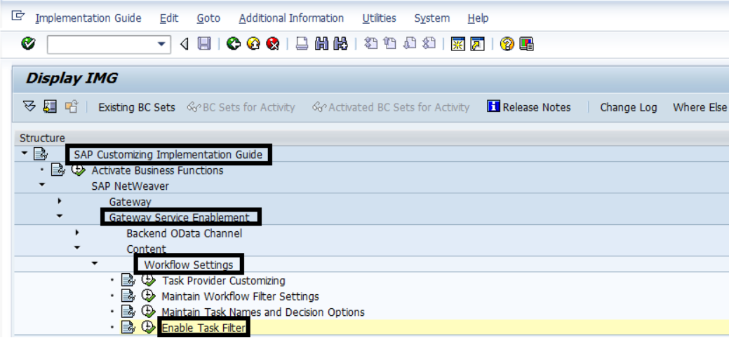 IMG path to Enable Task Filter option