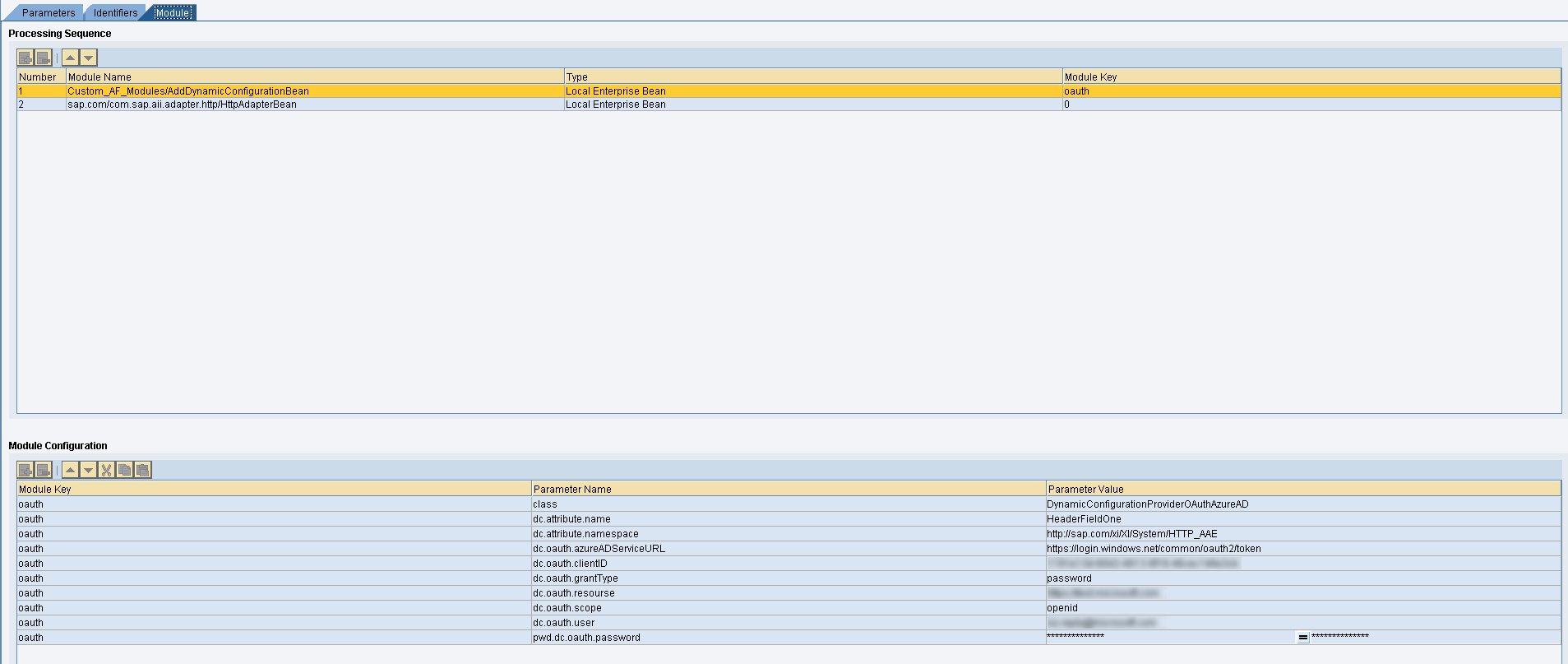 Enablement of OAuth 2 0 Authorization in Receiver Communication