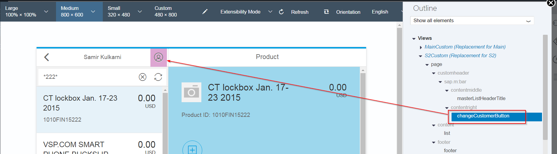 SAP Fiori UI Extension: Adding a custom fragment to make UI changes