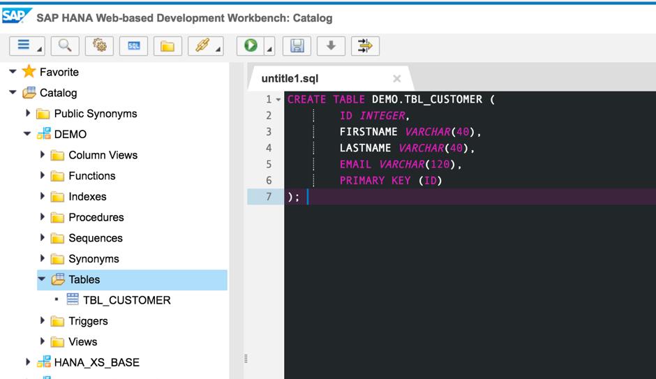 how to create a db user in sap hana