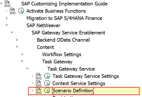 Path to the Scenario Definition Configuration in the IMG