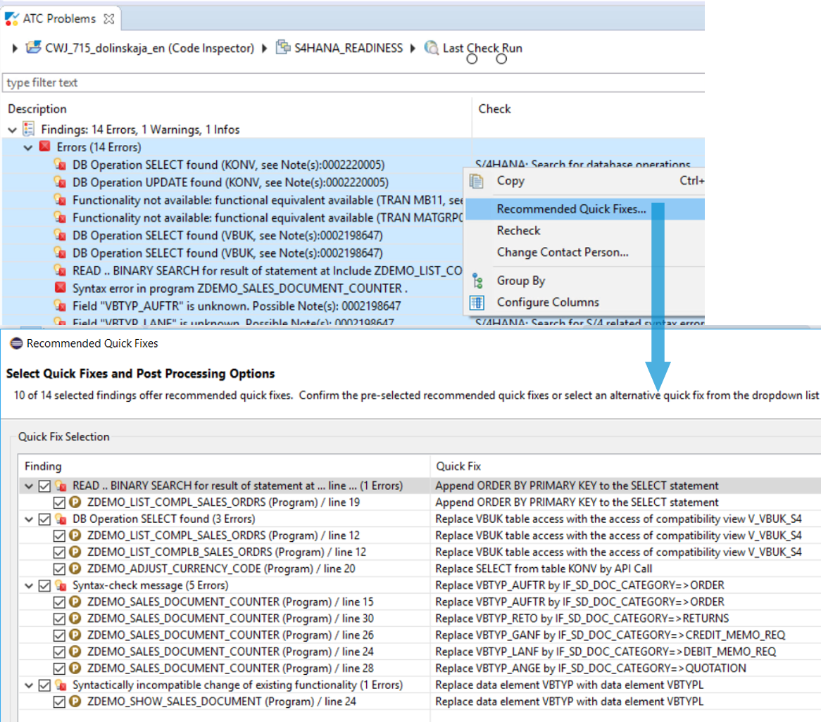 SAP S/4HANA System Conversion – Custom code adaptation
