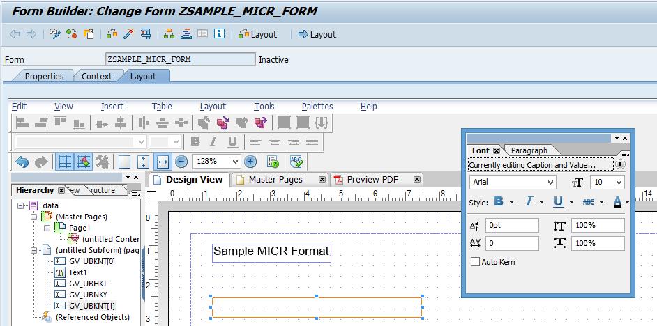 Using Micr Font In Sap Adobe Form Sap Blogs