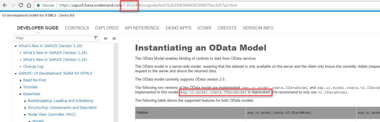 Stop using sap ui model odata ODataModel aka V1 ODataModel