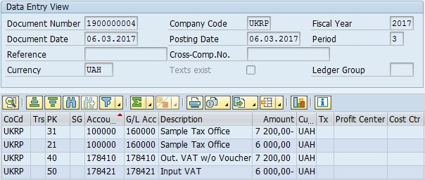 Tax payable posting to vendor account | SAP Blogs