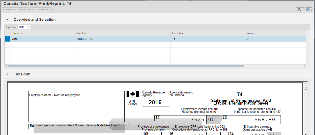 Enabling The Country Specific Payroll Tax Form Integration In