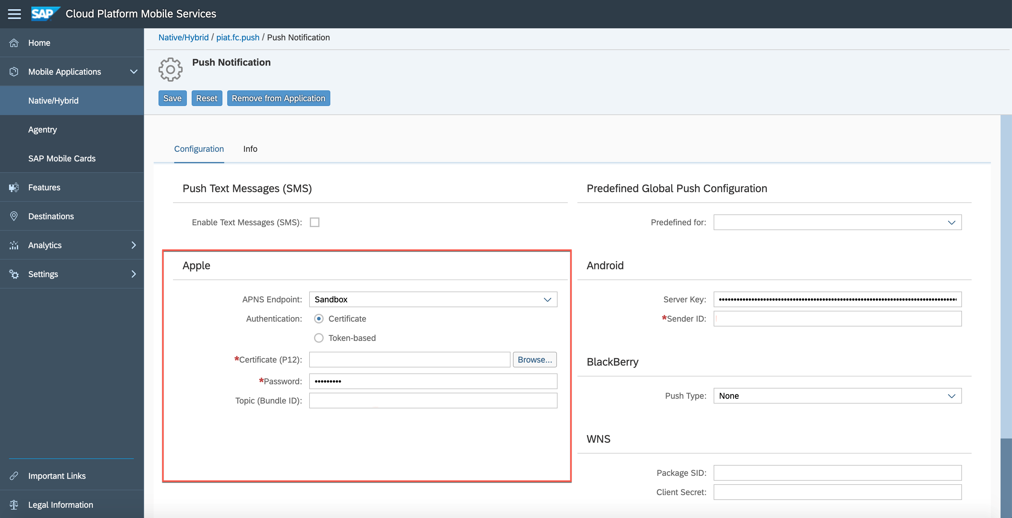 How to config and consume Push Notification from SAP Mobile