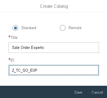 Create a tile catalog dialog