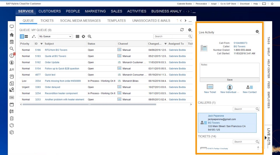 What's New in 1702 – SAP Hybris Cloud for Customer – Call