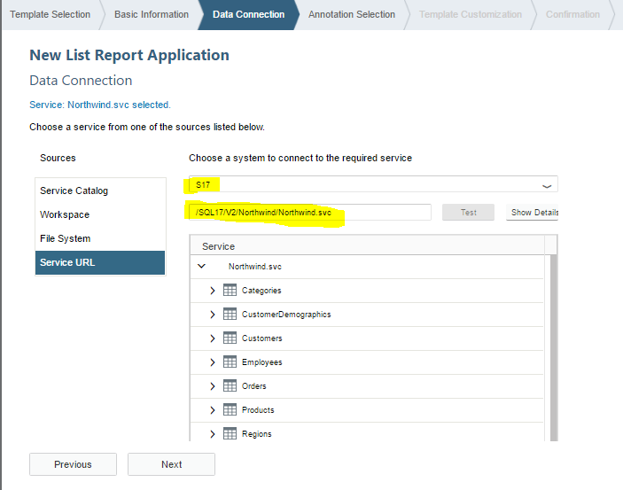 Using The SAP Web IDE with an SQL Anywhere based Northwind