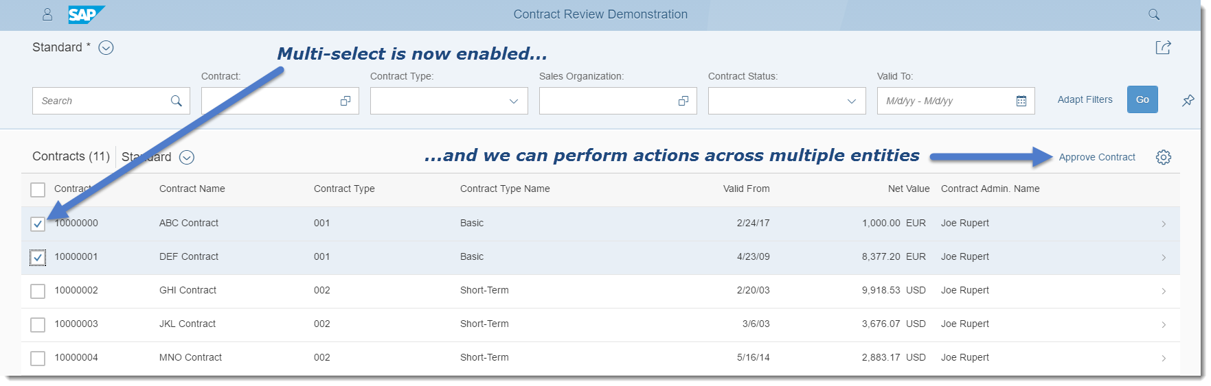 Annotating and Extending Fiori Element Applications: List Report