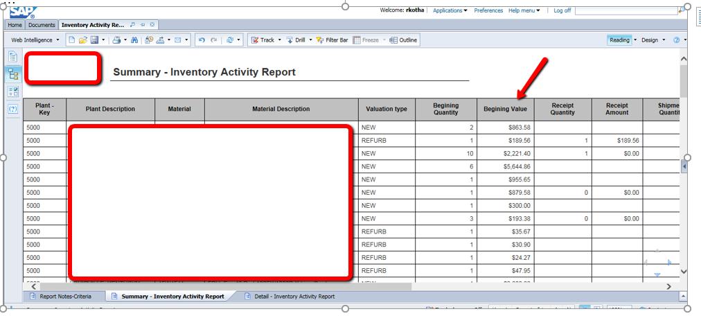 how to call bex report in webi