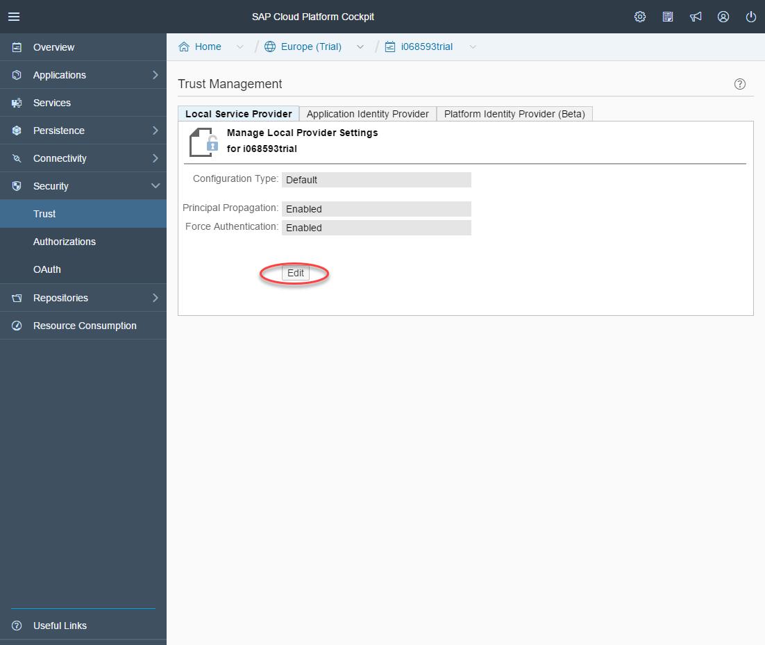 Configure SAML SSO for SAP Cloud Platform Using an External
