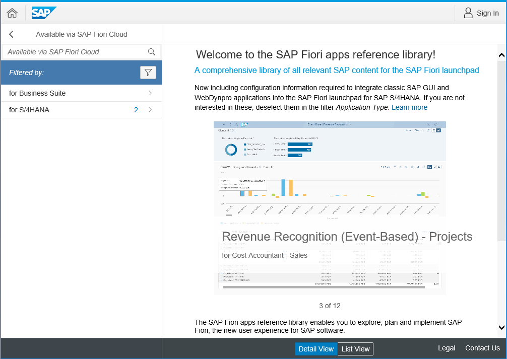 SAP Fiori apps reference library now with complete SAP Fiori