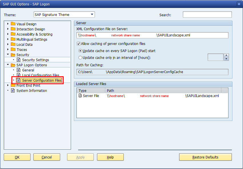 How to realize different SAP GUI SAP Logon system list