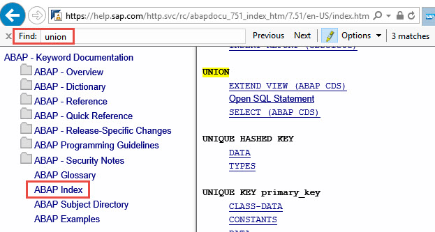 searching the abap keyword documentation sap blogs