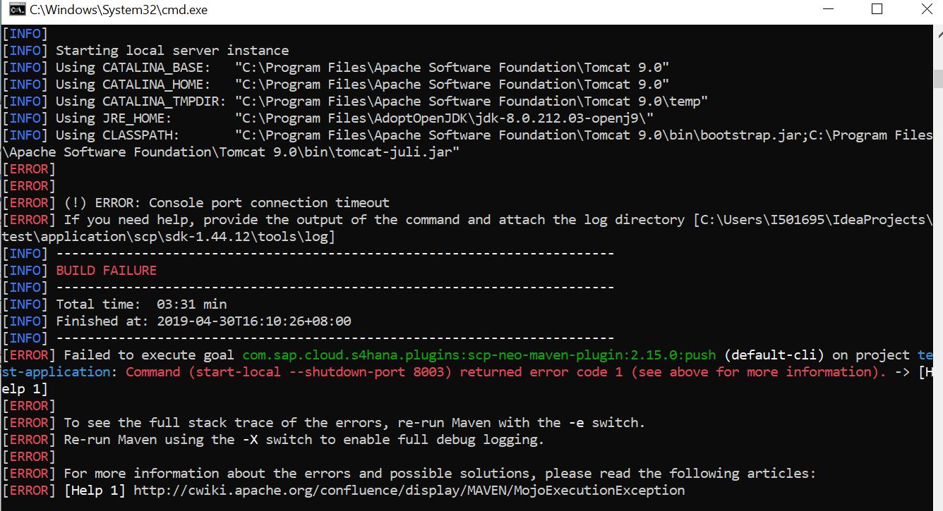 Step 2 with SAP Cloud SDK: HelloWorld on SCP Neo | SAP Blogs