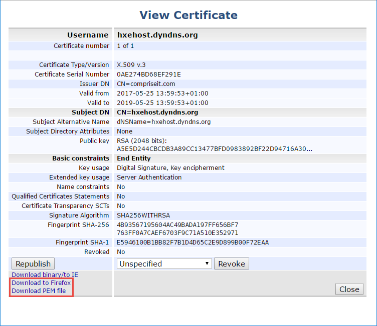Providing Openssl Certificates For Domains Defined In Hana Xsa Sap