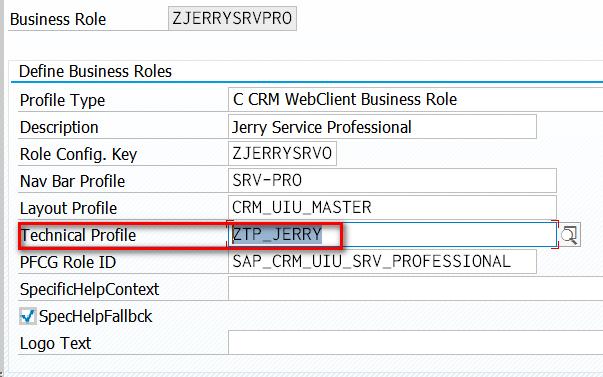 crm web ui business role