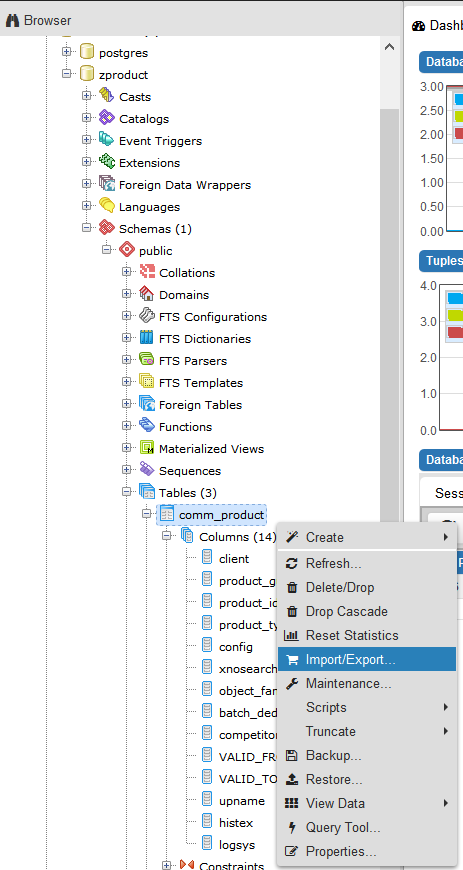 Export ABAP transparent table content to PostgreSQL table