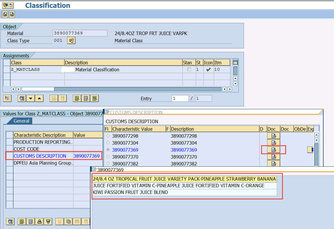 In order to build a calculation view in HANA, we need below SAP TABLES to  bring Classification Data.