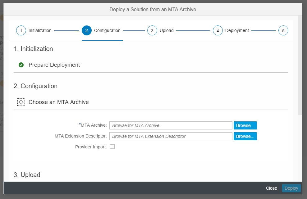 Deploying a Solution Using a Multi-Target Application (MTA