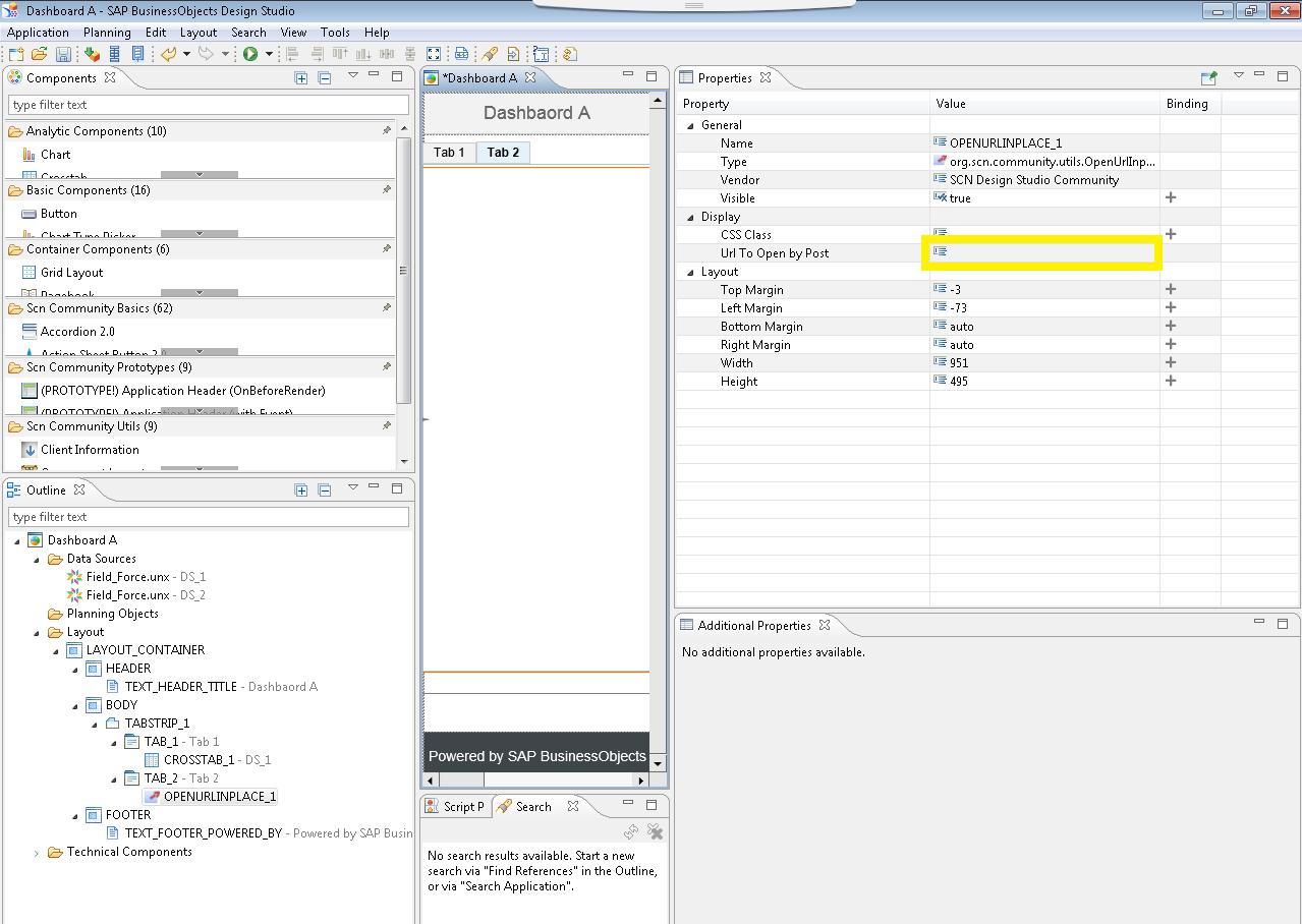 Open Url In Same Window Using Design Studio 1 6 Sdk Openurlinplace Component Sap Blogs