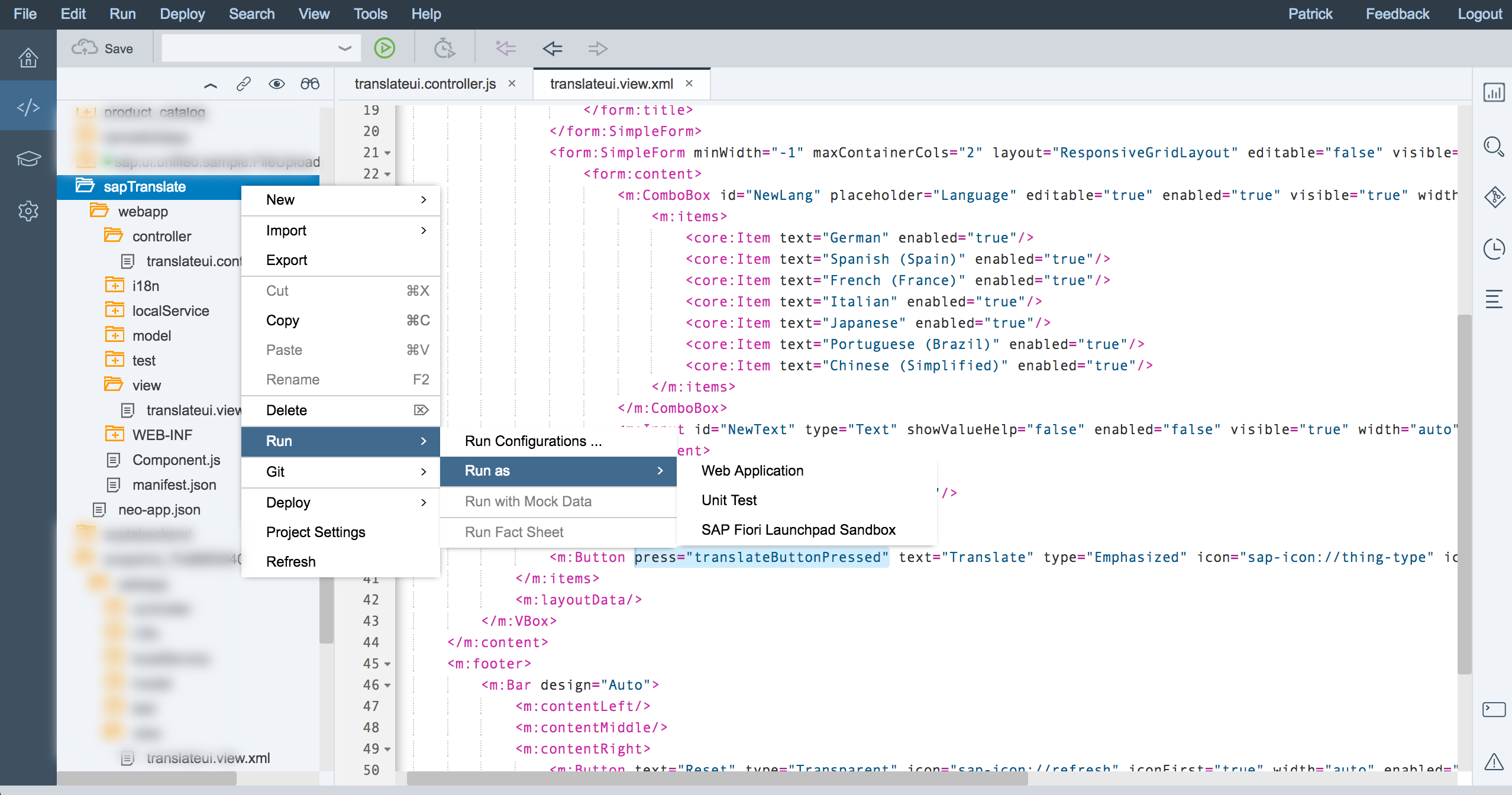SCPTA Exercise #2 | Add Logic to your UI in SAP Web IDE - SAP Blogs