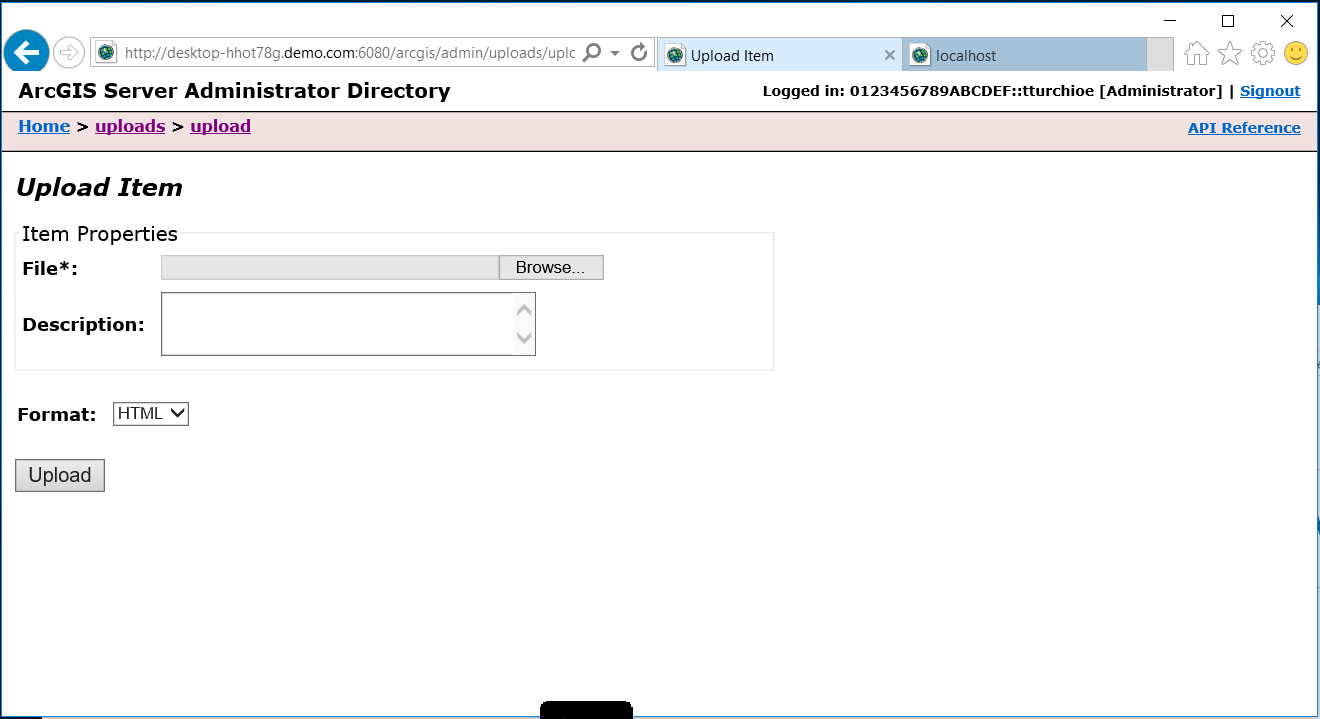 Connecting insights for arcgis to hana sap blogs to upload the jar file click on uploads then on upload the following webpage will display xflitez Gallery