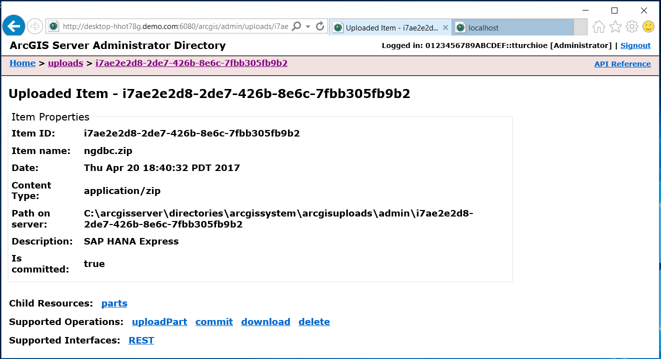 Connecting insights for arcgis to hana sap blogs you might want to make a note of the item id for use when registering the data source to register the data source click on home in the breadcrumb trail on xflitez Gallery