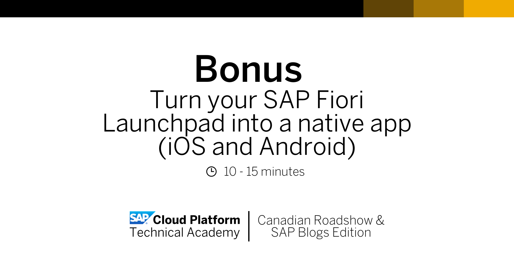 SCPTA Bonus Exercise | Turn your SAP Fiori Launchpad into a