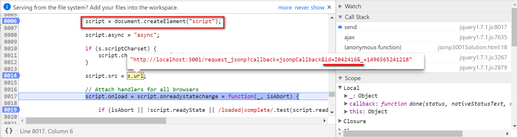 Play around with JSONP in nodeJS server and ABAP server