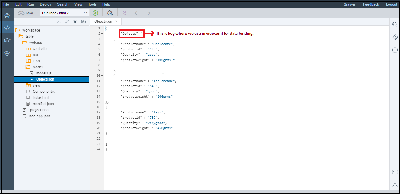 JSON Data binding, Navigation and Search functionality in SAPUI5
