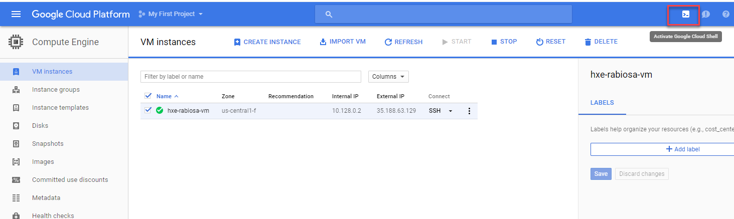 Get your SSH keys to HANA Express instance in Google Cloud