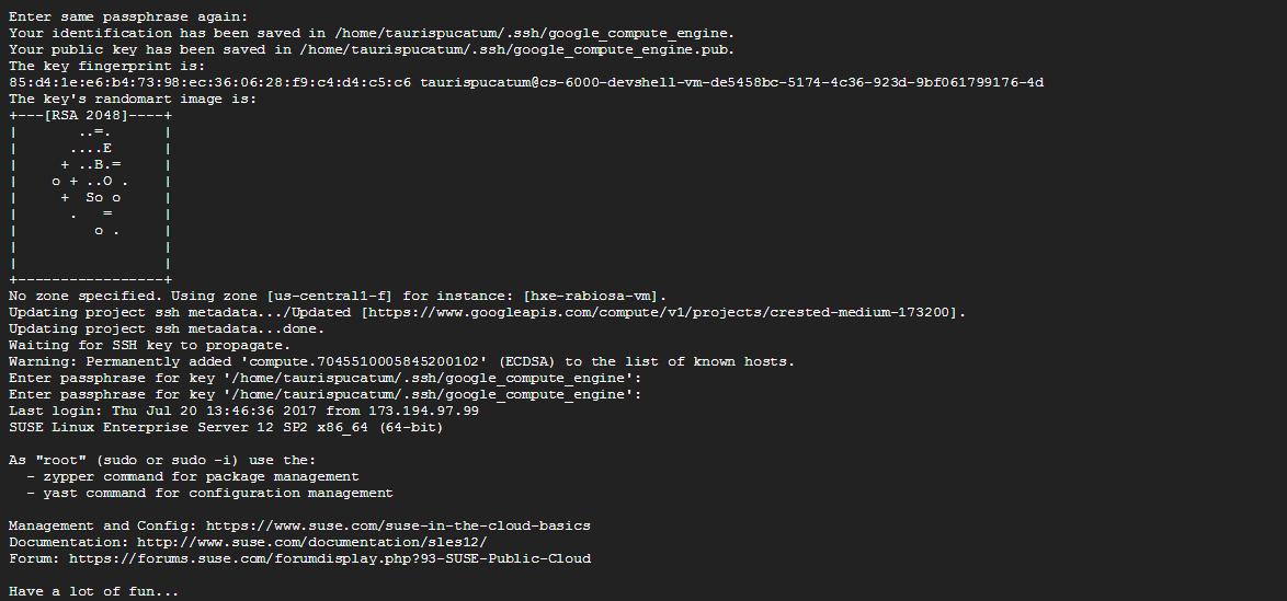 Getting Your HANA Express SSH Keys in GCP - DZone Cloud