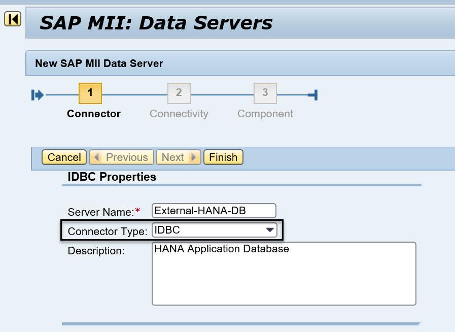 SAP MII connection to External HANA database | SAP Blogs