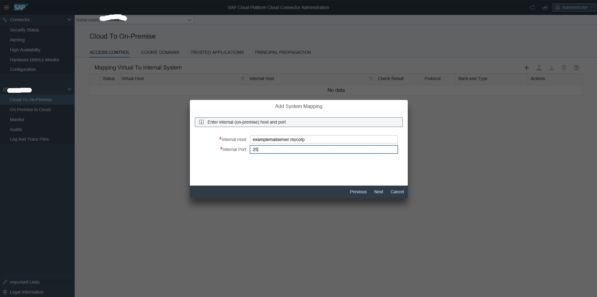 How to connect via SAP Cloud Platform Integration to my On-Premise