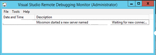 Visual Studio Remote Debugging SAP Monitor