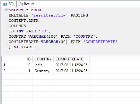 processing xml data in sap hana sap blogs