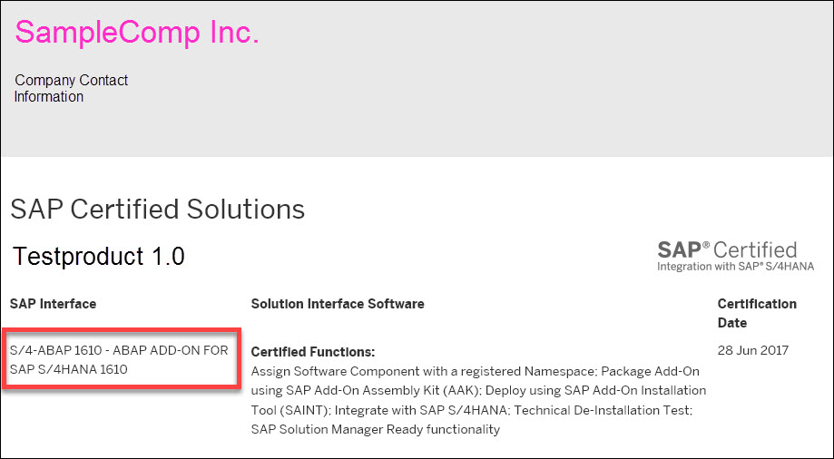 Sap Certification Recommendation For Partner Solutions For Sap S