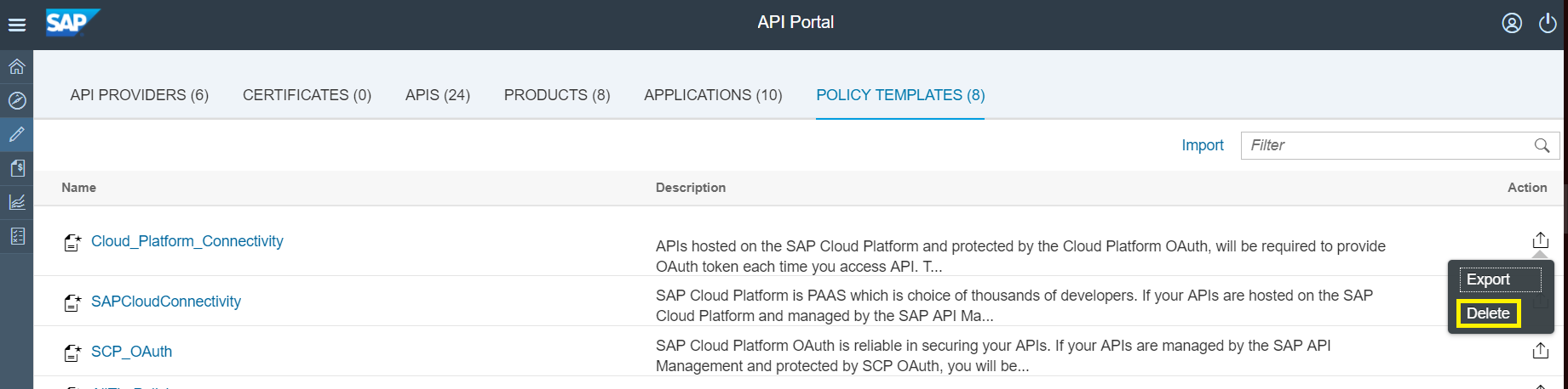 Policy Management Made Easy With Templates In Sap Api Management