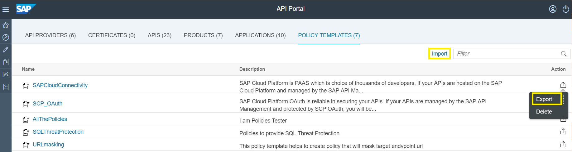 Policy management made easy with Templates in SAP API Management ...