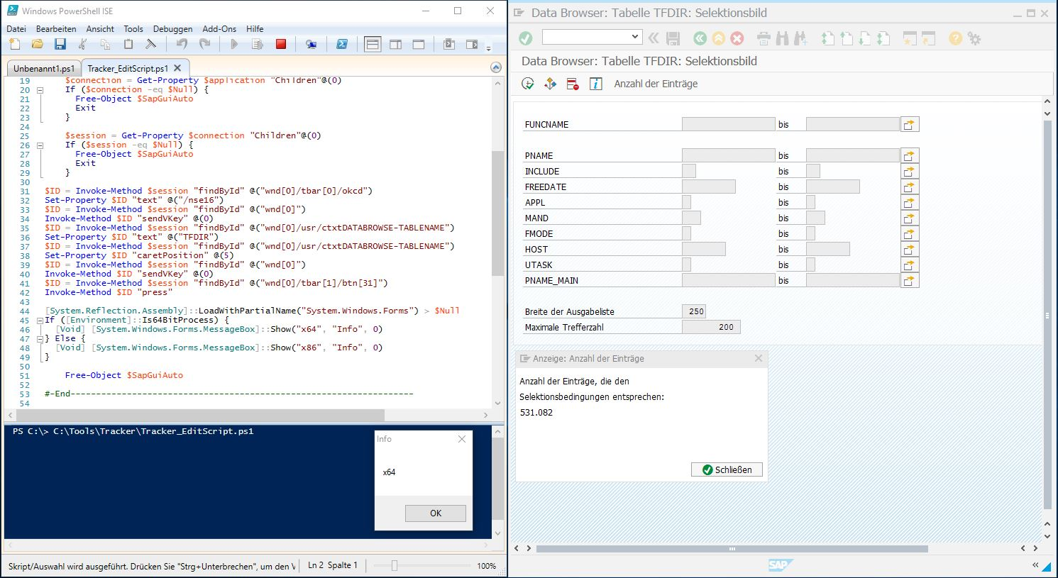 SAP GUI Scripting API now Accessible from x64 Application