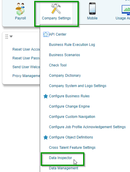 employee central odata api data dictionary is empty