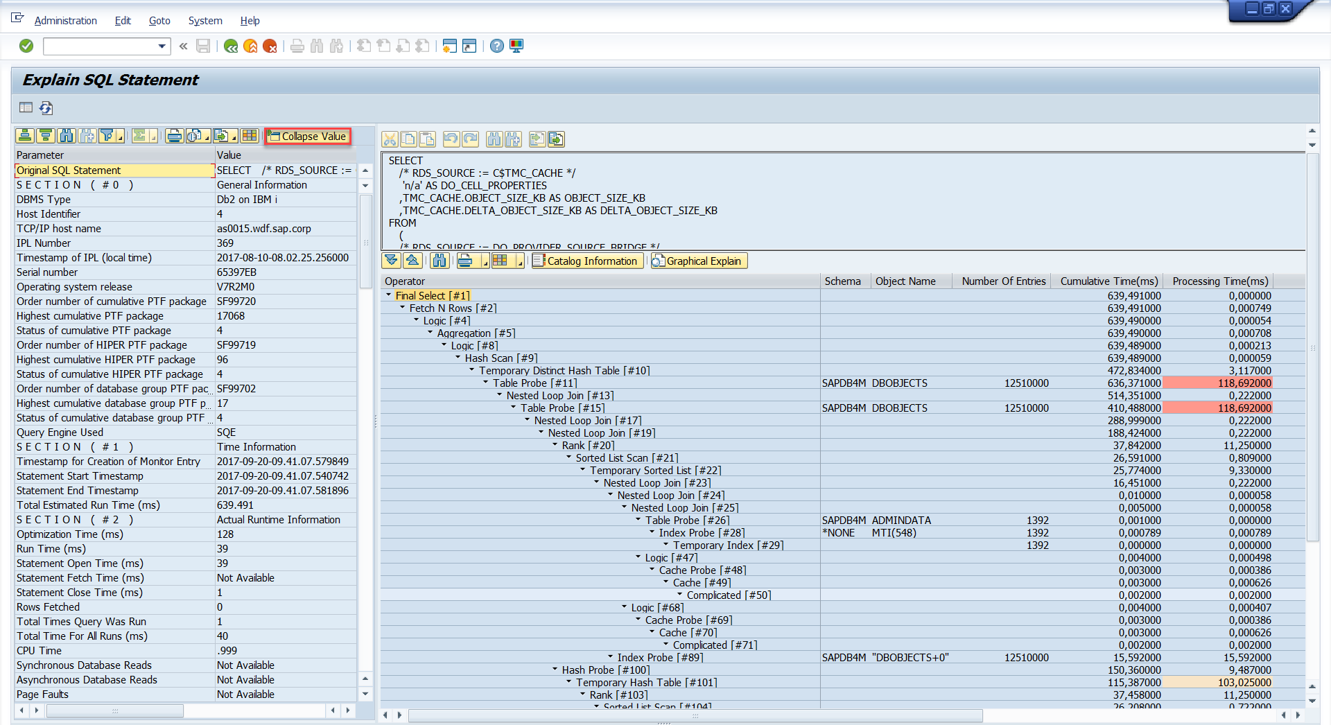 SAP on IBM i – Access to IBM Db2 for i SQL Editor via DBA