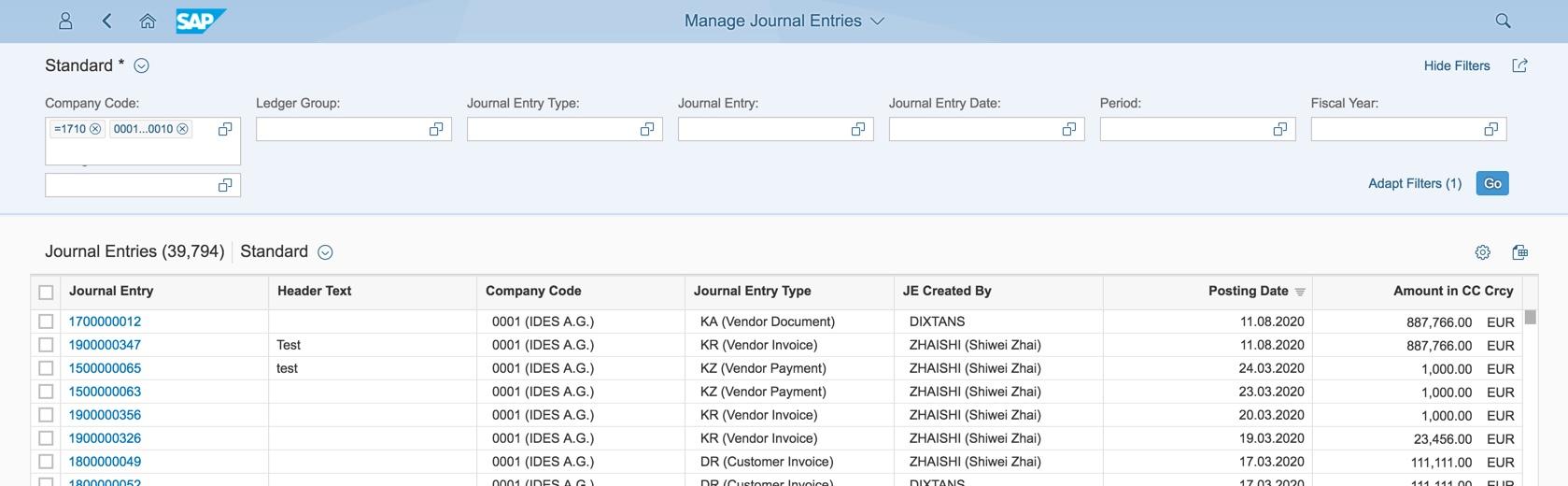 Setting User Defaults in SAP S/4HANA | SAP Blogs