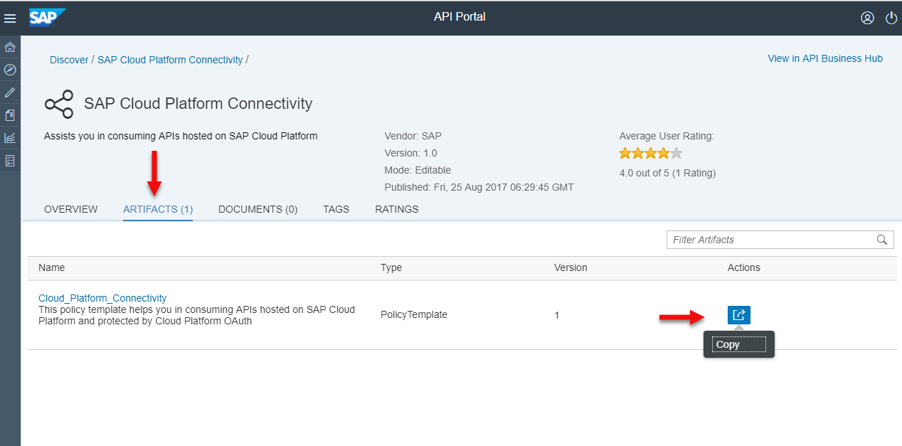 Sap Cloud Platform Connectivity Policy Template To Generate
