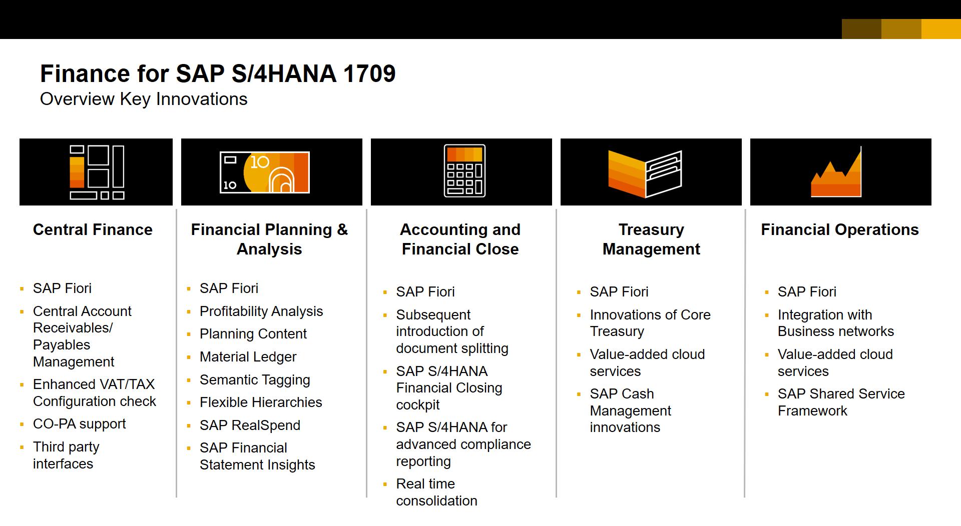 product management update  sap  s4hana 1709 for finance